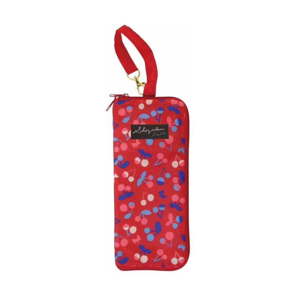 日本Prairie Dog|可調式掛勾絨毛超吸水摺疊傘套-櫻桃紅