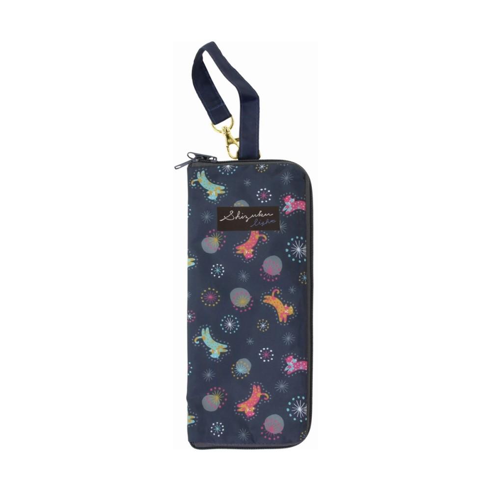 日本Prairie Dog 可調式掛勾絨毛超吸水摺疊傘套-貓與星空