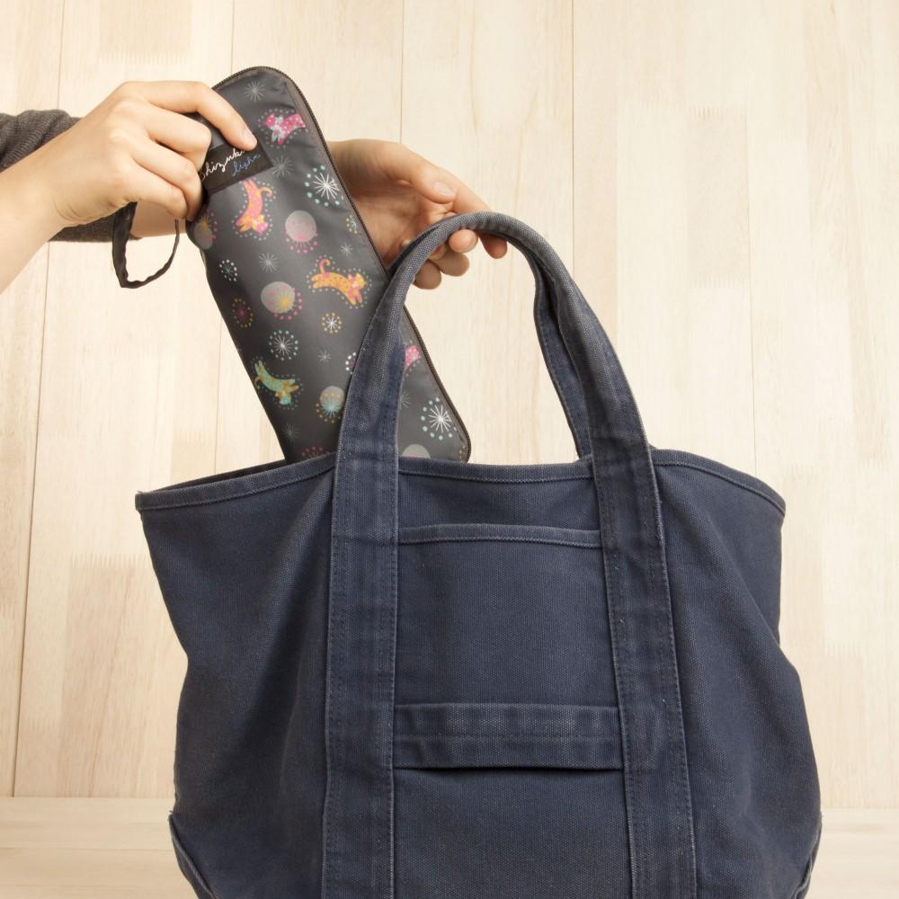 日本Prairie Dog|可調式掛勾絨毛超吸水摺疊傘套-貓與星空