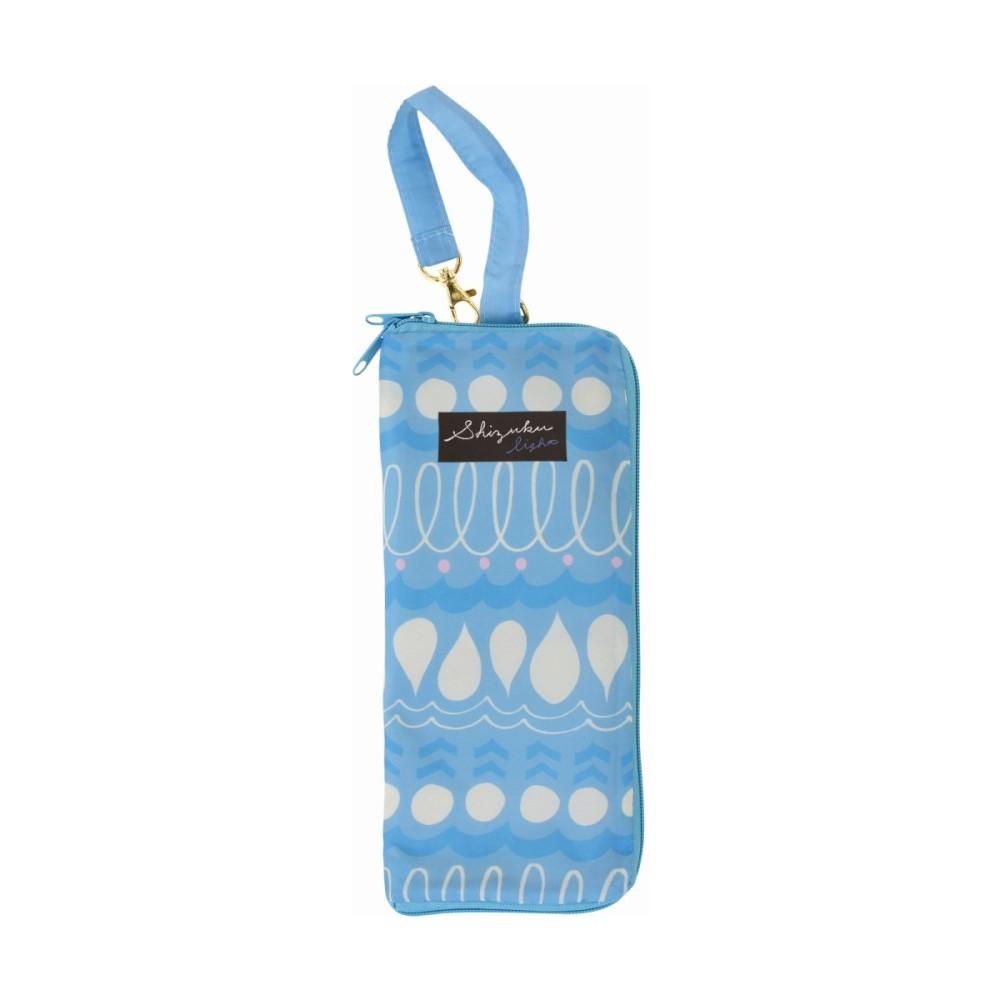 日本Prairie Dog 可調式掛勾絨毛超吸水摺疊傘套-天空藍