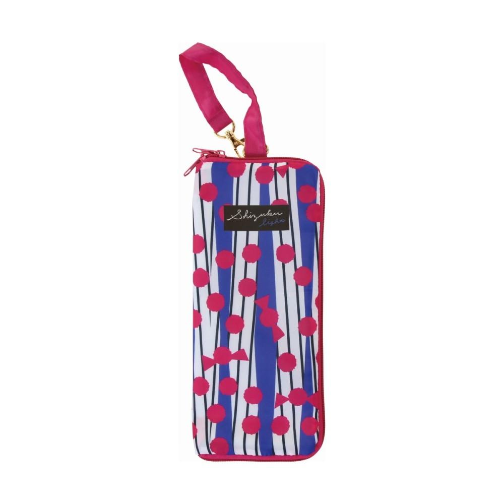日本Prairie Dog|可調式掛勾絨毛超吸水摺疊傘套-紅藍撞色