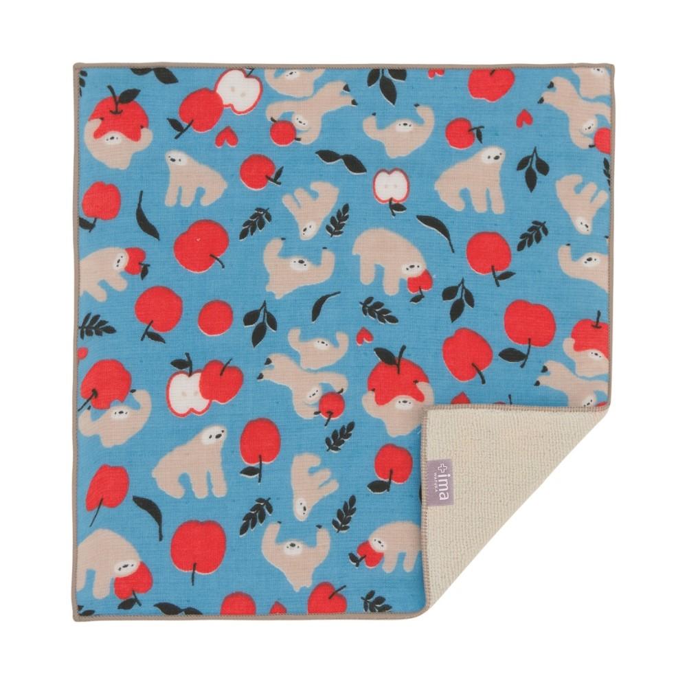 日本Prairie Dog|今治製有機優質純綿方巾-蘋果與樹懶