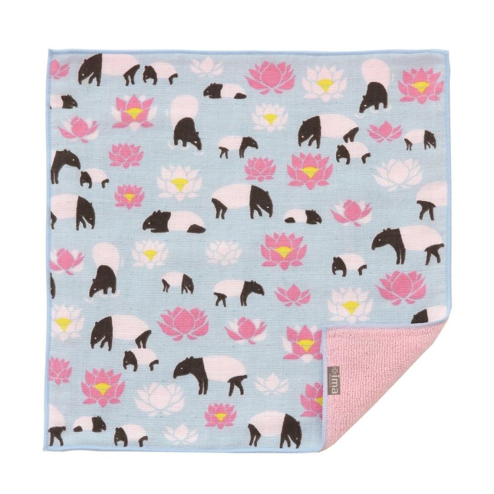 日本Prairie Dog|今治製有機優質純綿方巾-馬來貘與花