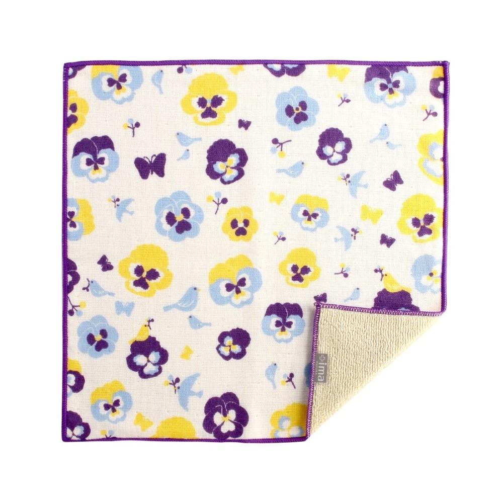 日本Prairie Dog|今治製有機優質純綿方巾-紫羅蘭與鳥