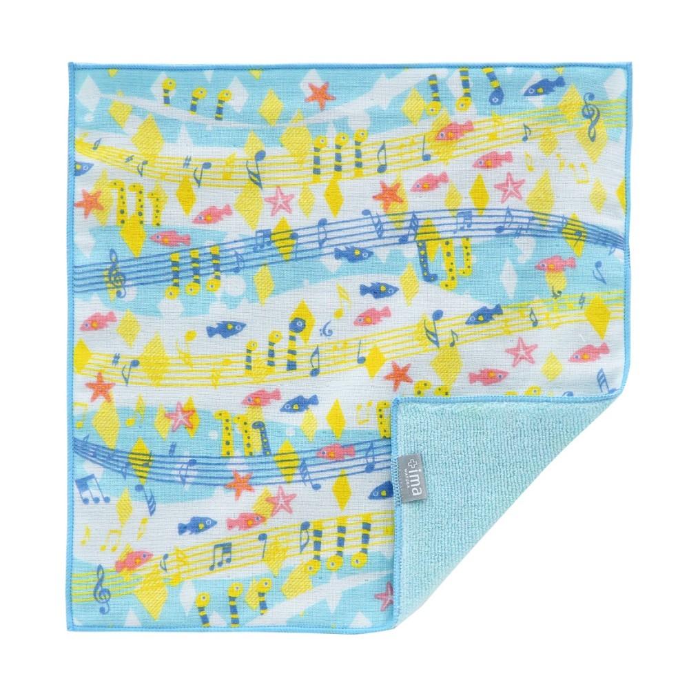 日本Prairie Dog|今治製有機優質純綿方巾-海底音樂