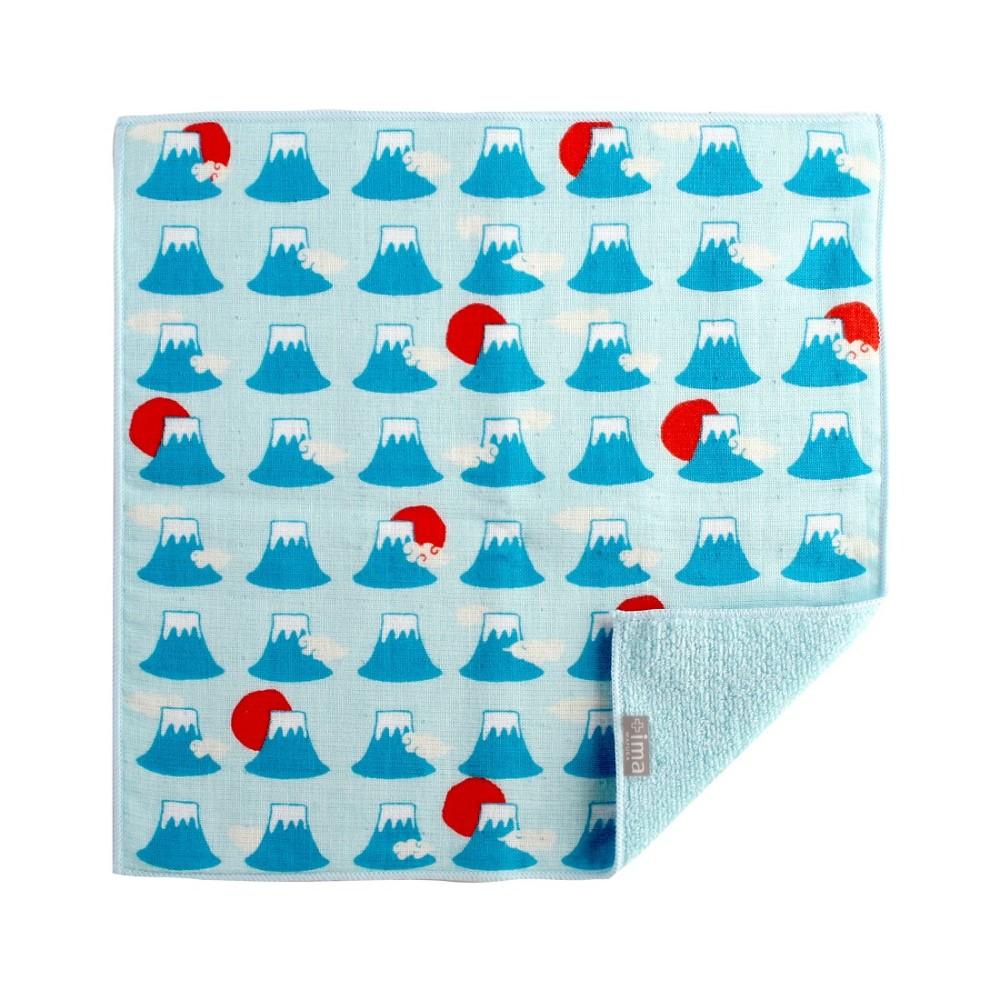 日本Prairie Dog 今治製有機優質純綿方巾-富士山