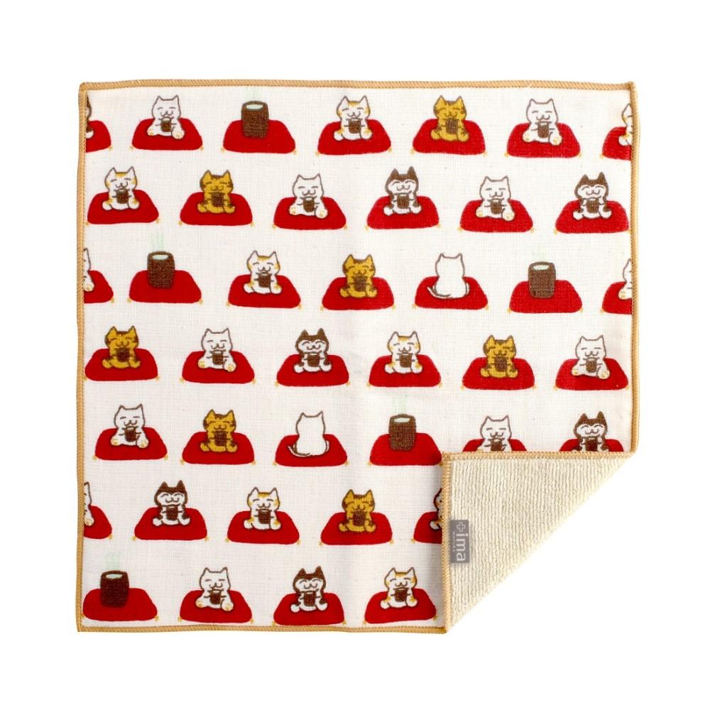 日本Prairie Dog|今治製有機優質純綿方巾-貓和茶