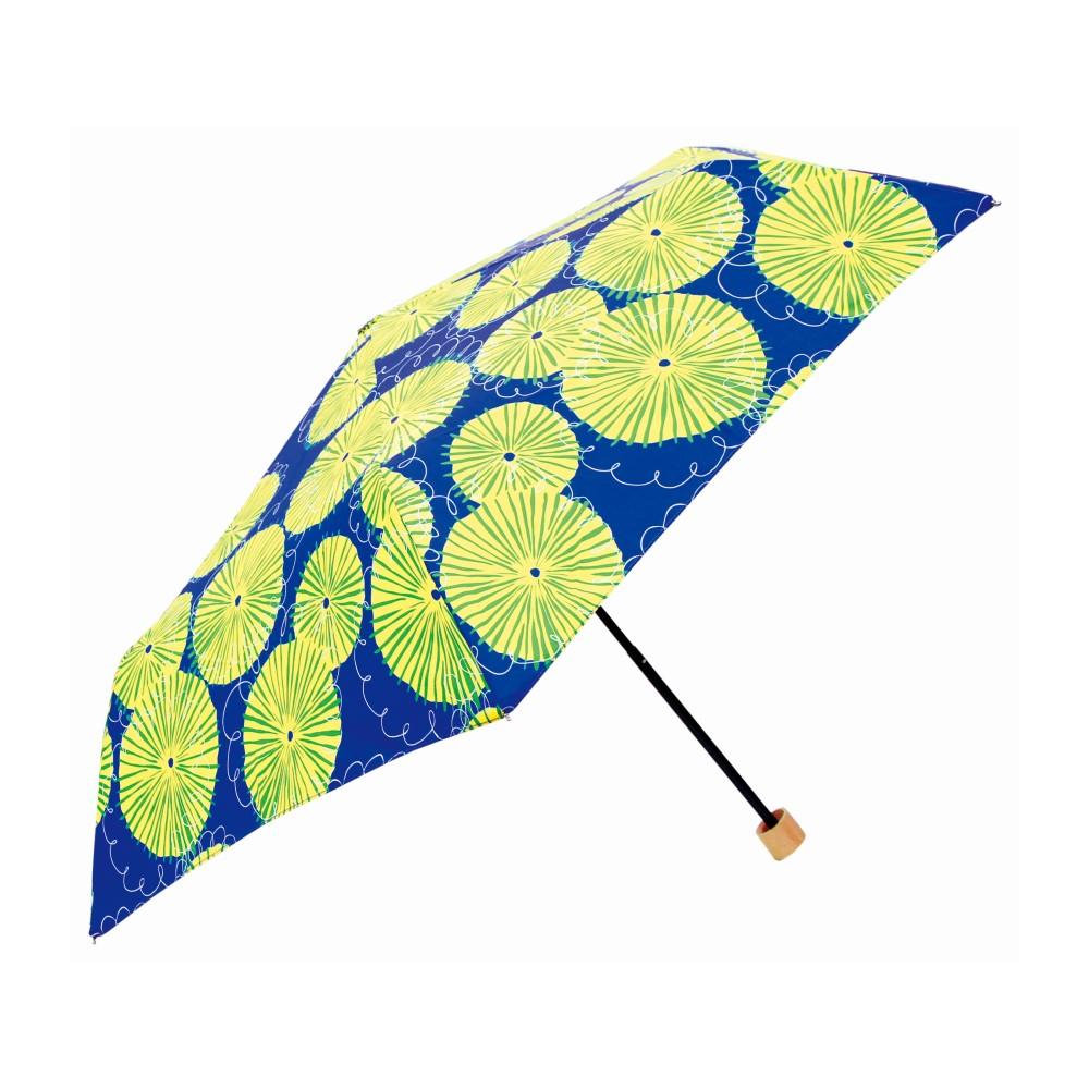 日本Prairie Dog|晴雨兩用抗UV摺疊收納傘+多功能收納傘袋-蒲公英(藍)