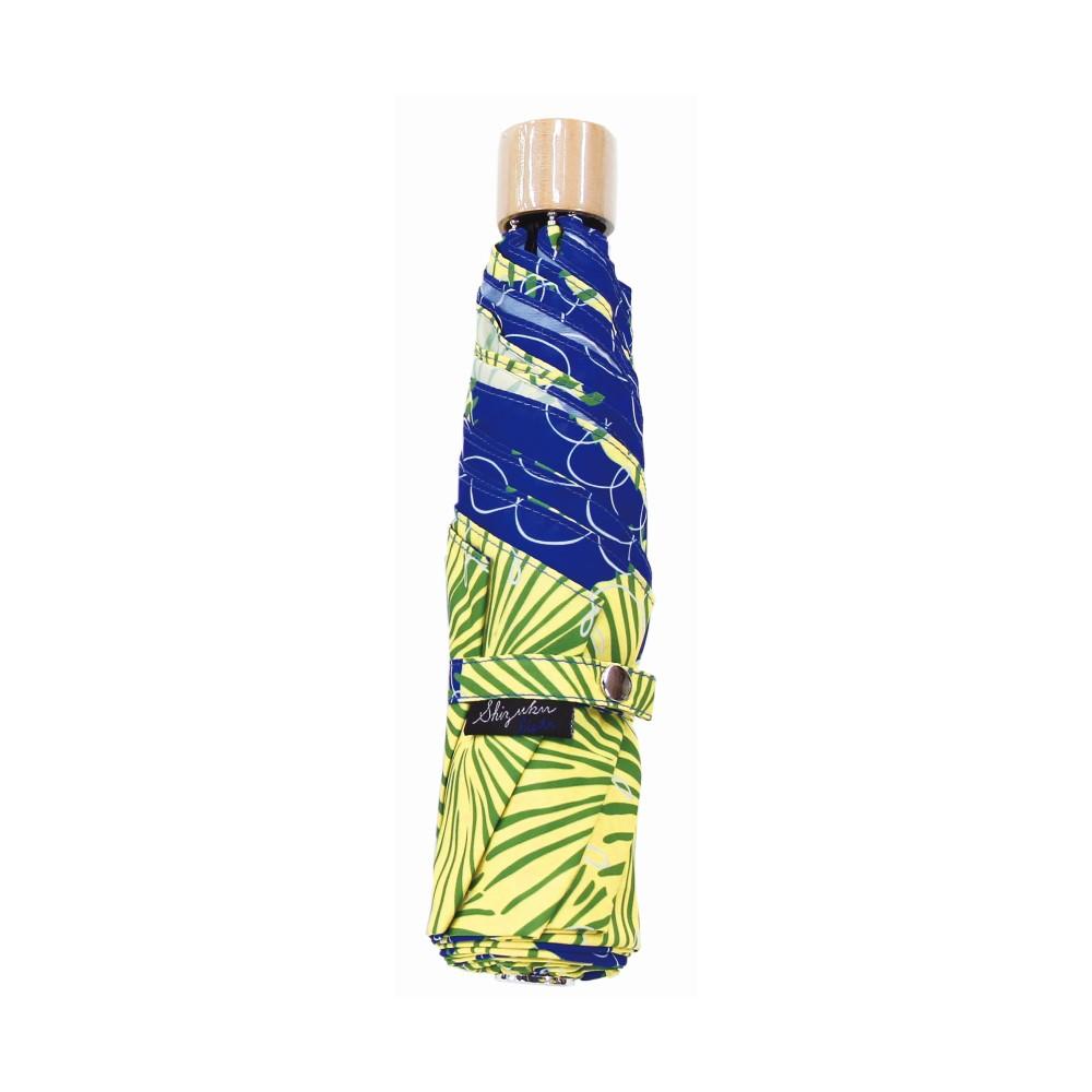 日本Prairie Dog 晴雨兩用抗UV摺疊收納傘+多功能收納傘袋-蒲公英(藍)