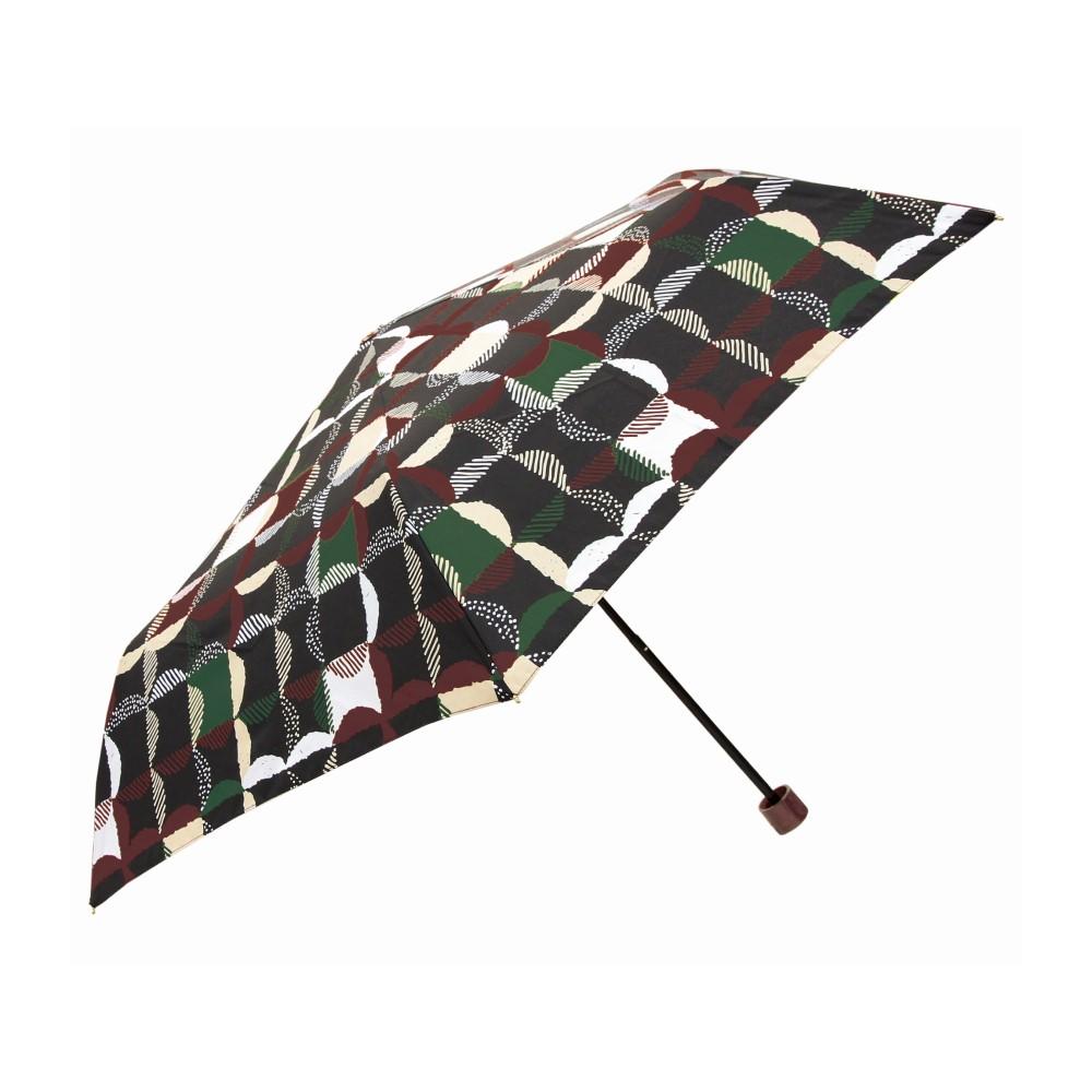 日本Prairie Dog|晴雨兩用抗UV摺疊收納傘+多功能收納傘袋-方格(黑)