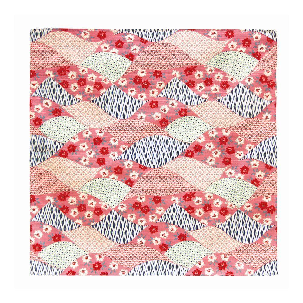 日本Prairie Dog|伊勢形紙風呂敷/便當巾-紅色波紋