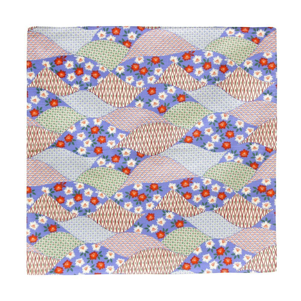 日本Prairie Dog|伊勢形紙風呂敷/便當巾-藍色波紋