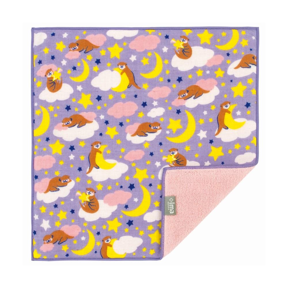 日本Prairie Dog 今治製有機優質純綿方巾-晚安水獺