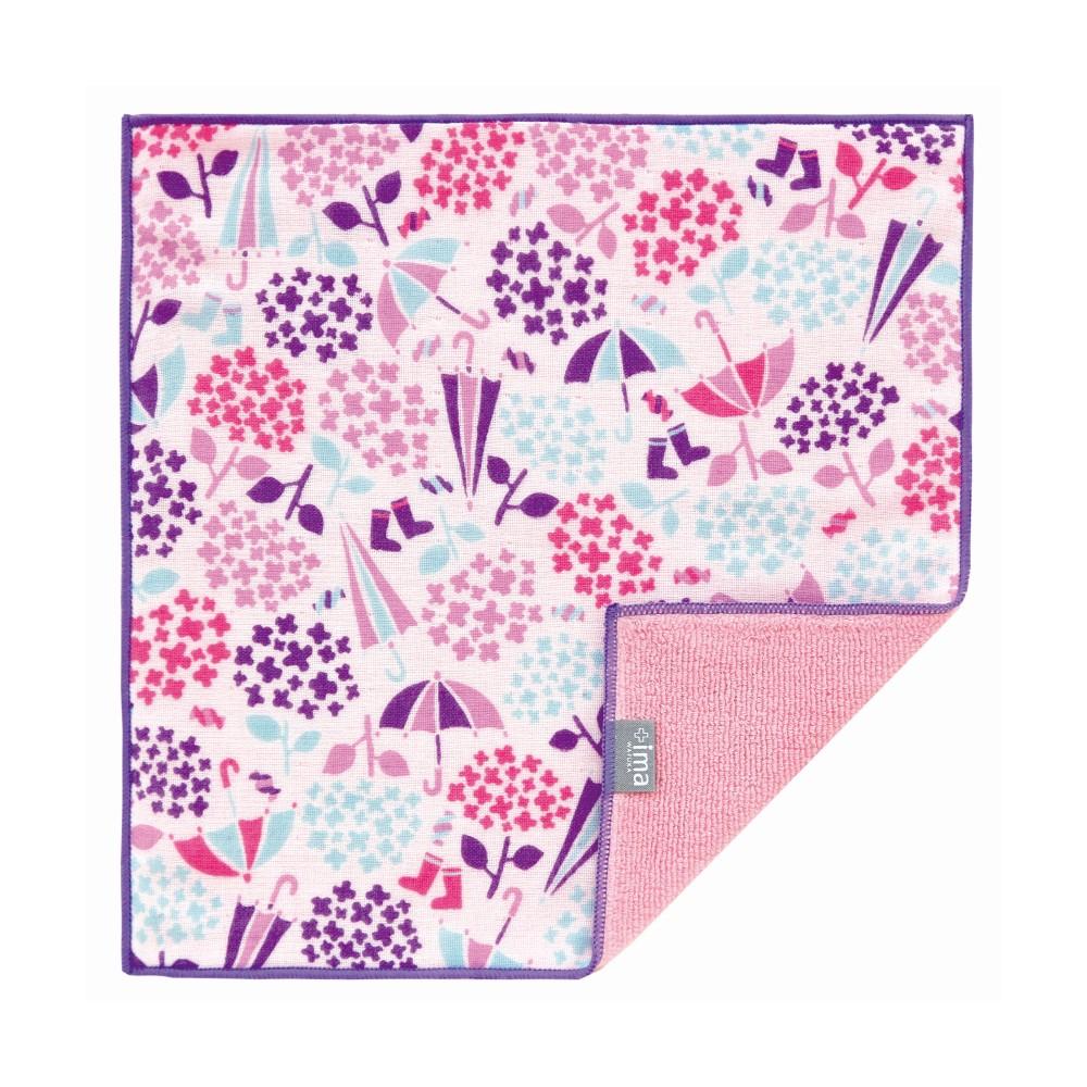 日本Prairie Dog|今治製有機優質純綿方巾-繡球花與傘