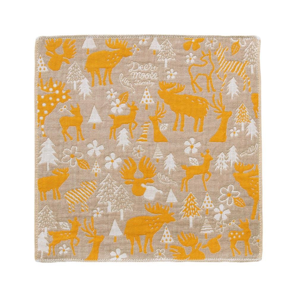 日本Prairie Dog 今治三層紗方巾-麋鹿剪影