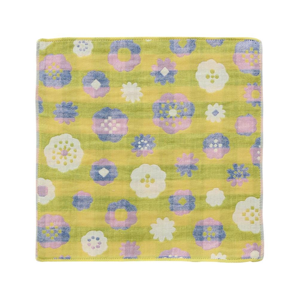 日本Prairie Dog|今治三層紗方巾-繽紛盛放