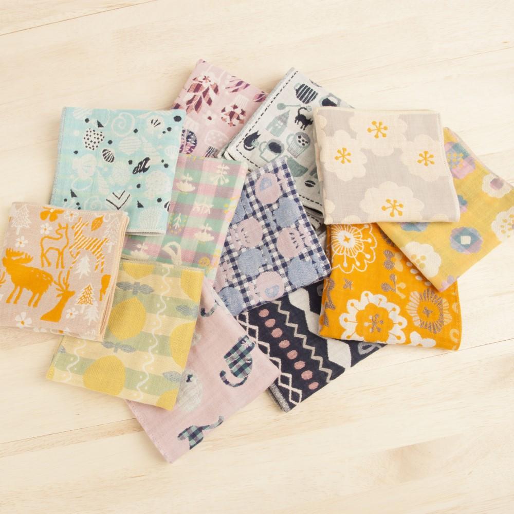 日本Prairie Dog|今治三層紗方巾-滿心歡喜