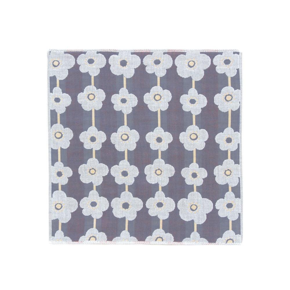 日本Prairie Dog|今治三層紗方巾-水色花紋