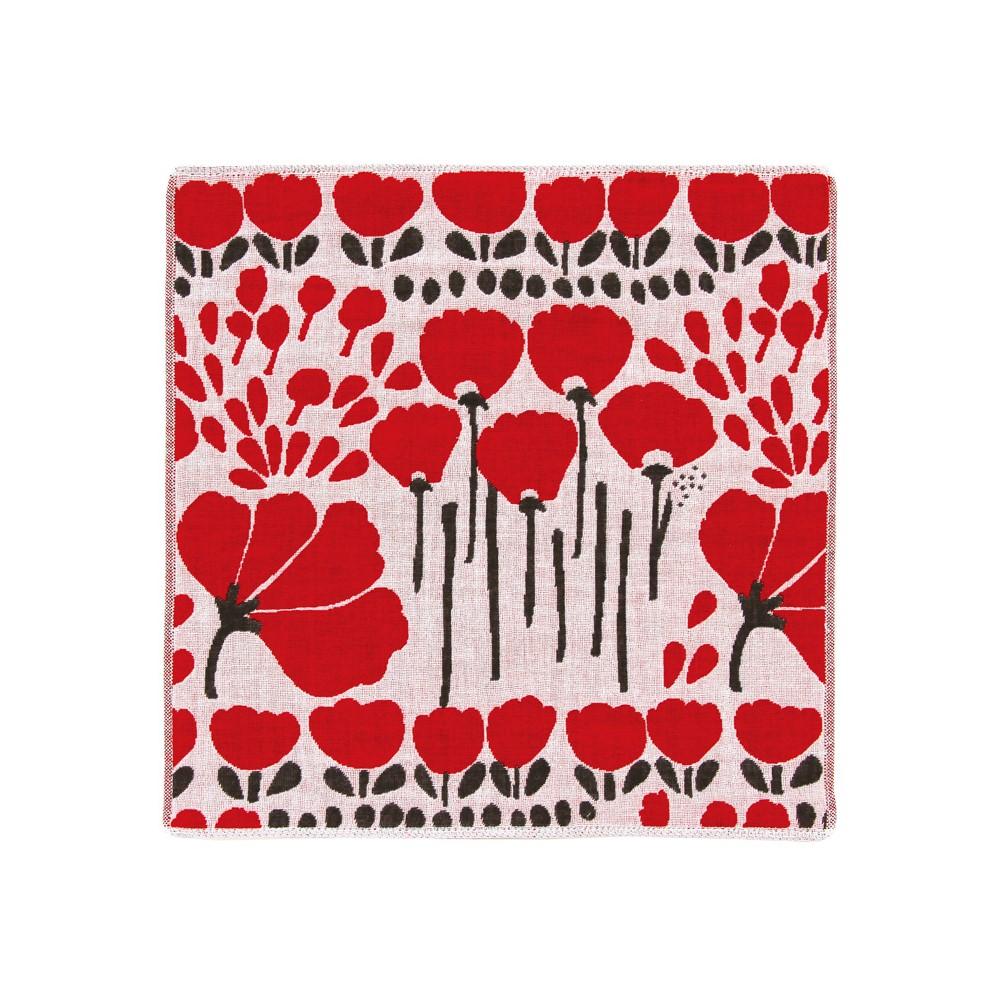 日本Prairie Dog|今治三層紗方巾-紅康乃馨