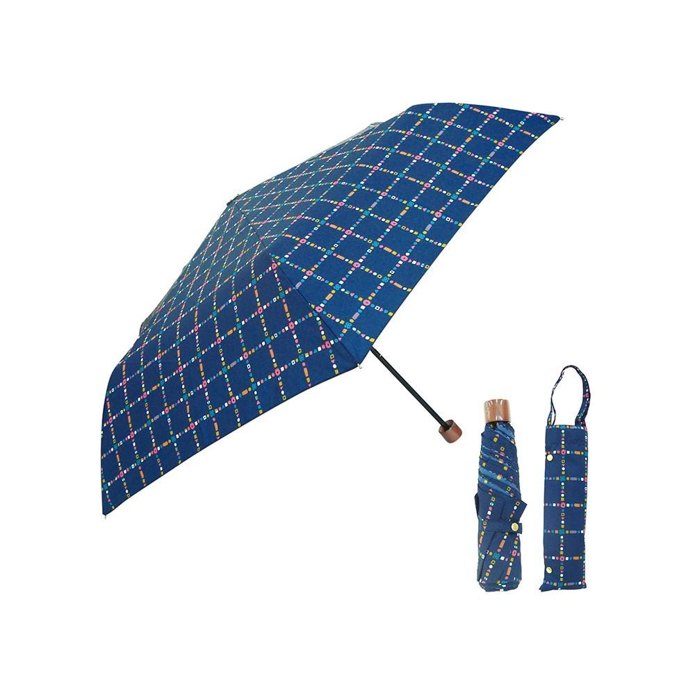 日本Prairie Dog|晴雨兩用抗UV摺疊收納傘+多功能收納傘袋-深海藍