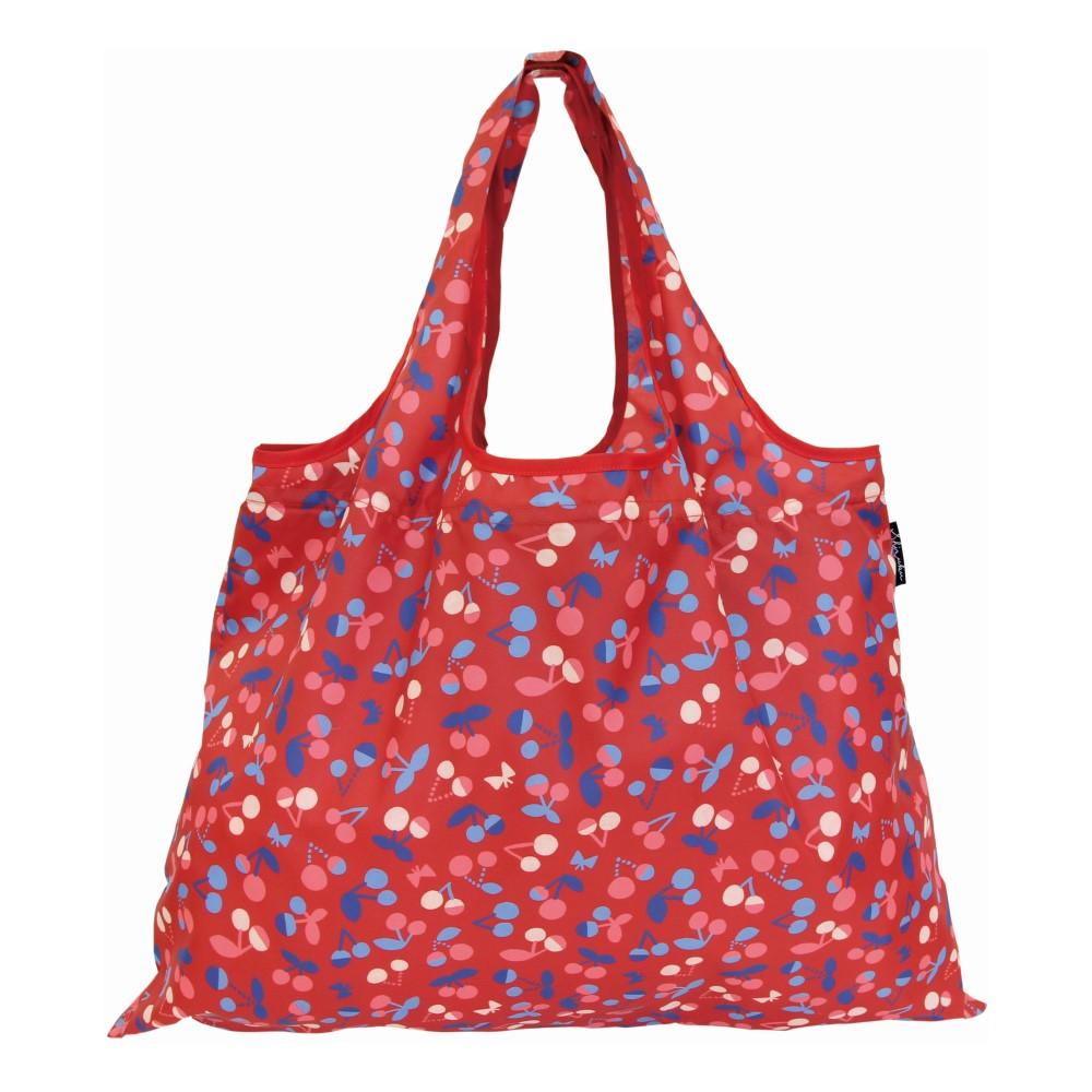 日本Prairie Dog 2Way 隨身收納環保購物袋-櫻桃紅