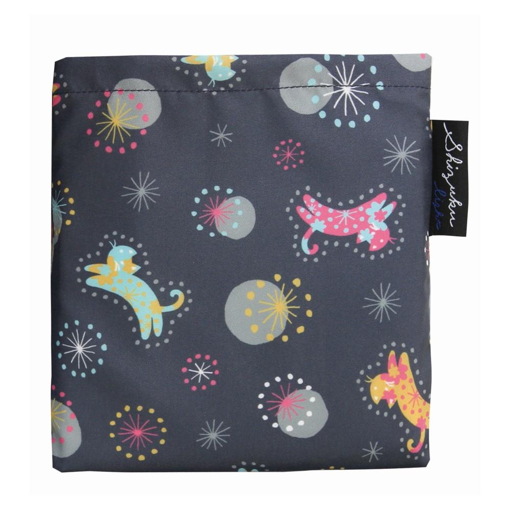 日本Prairie Dog|2Way 隨身收納環保購物袋-貓與星空