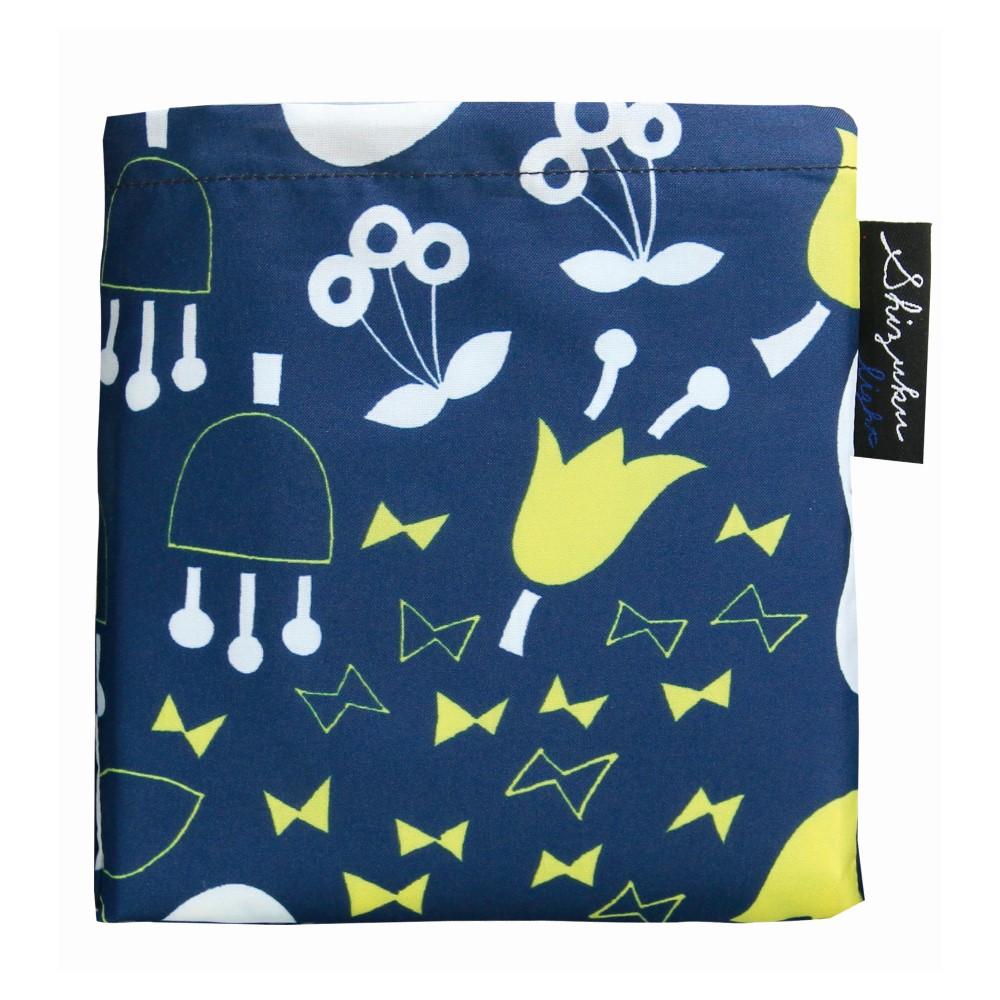 日本Prairie Dog|2Way 隨身收納環保購物袋-深藍花園