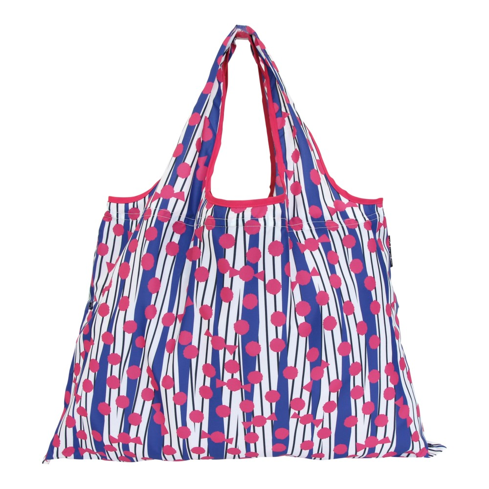 日本Prairie Dog 2Way 隨身收納環保購物袋-紅藍撞色