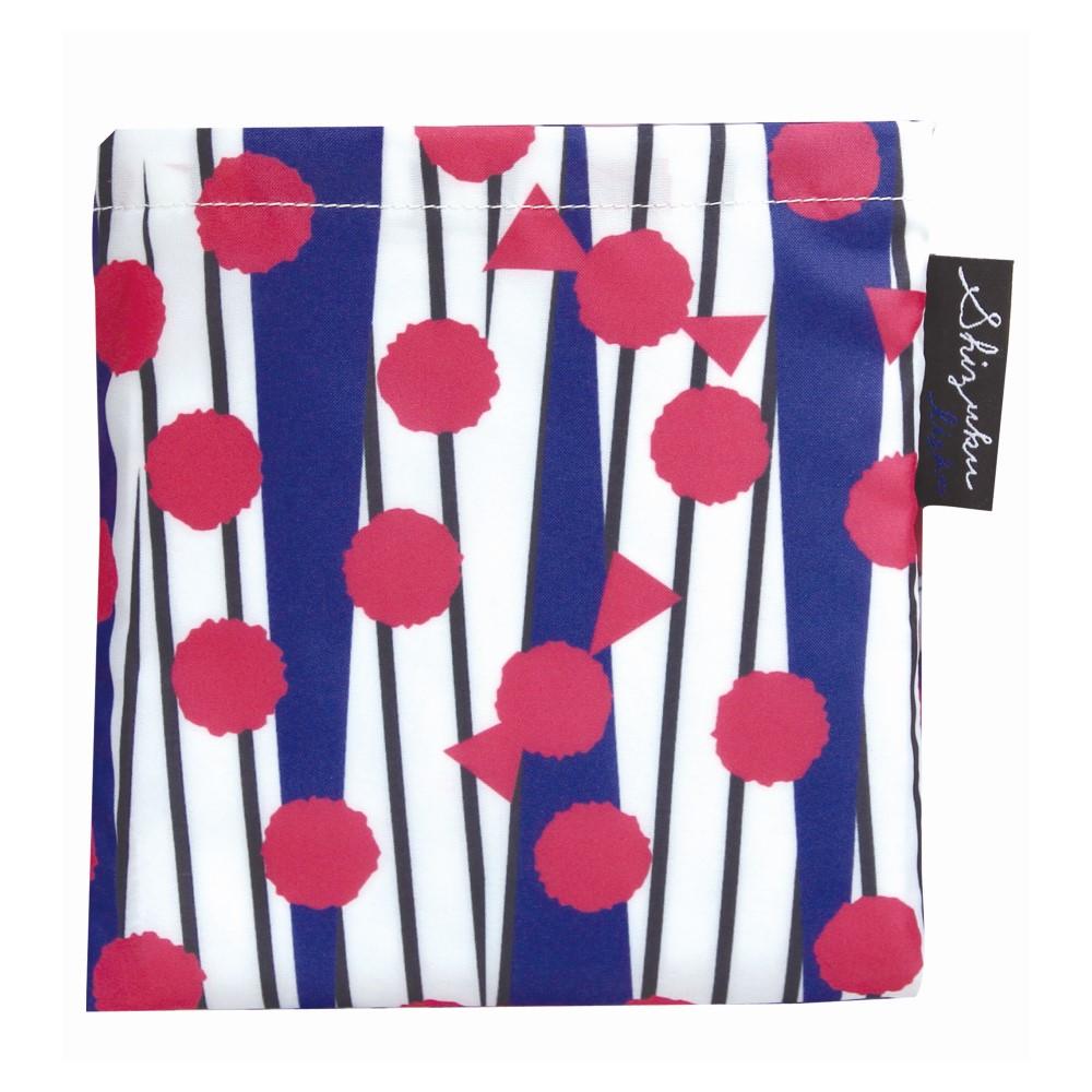 日本Prairie Dog|2Way 隨身收納環保購物袋-紅藍撞色