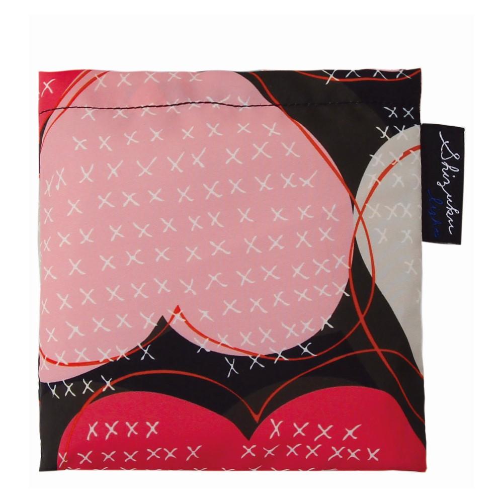 日本Prairie Dog|2Way 隨身收納環保購物袋-心形(黑)