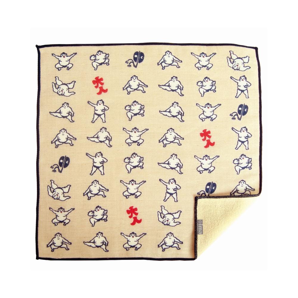 日本Prairie Dog 今治製有機優質純綿方巾-相撲選手