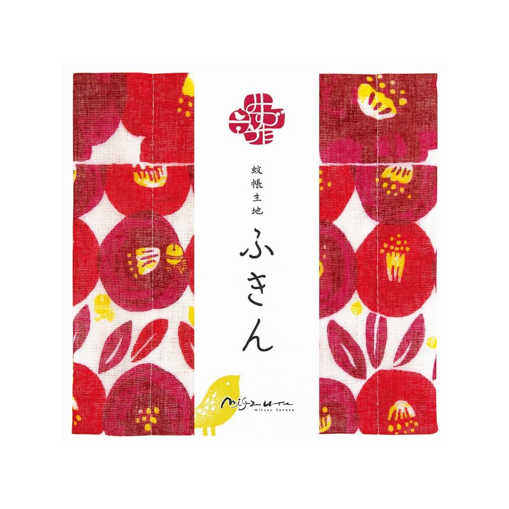 日本Prairie Dog 超吸水廚房擦拭清潔方巾 金子美鈴聯名系列-山茶花(M)