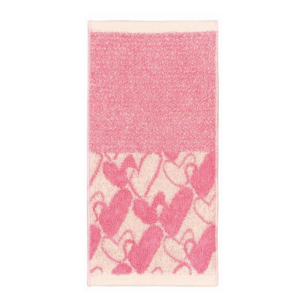 日本Prairie Dog|今治吸水速乾長方巾-粉色愛心