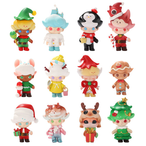 DIMOO|驚喜聖誕節系列盒玩公仔(12入盒裝)