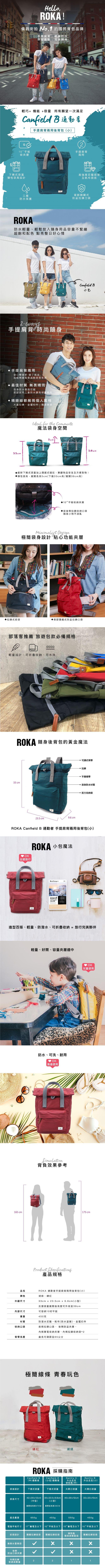 ROKA LONDON|「通勤者」手提肩背兩用後背包(小) 磚紅