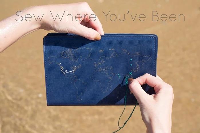 (複製)Chasing Threads|個人化 帆布地圖托特包 (海軍藍)