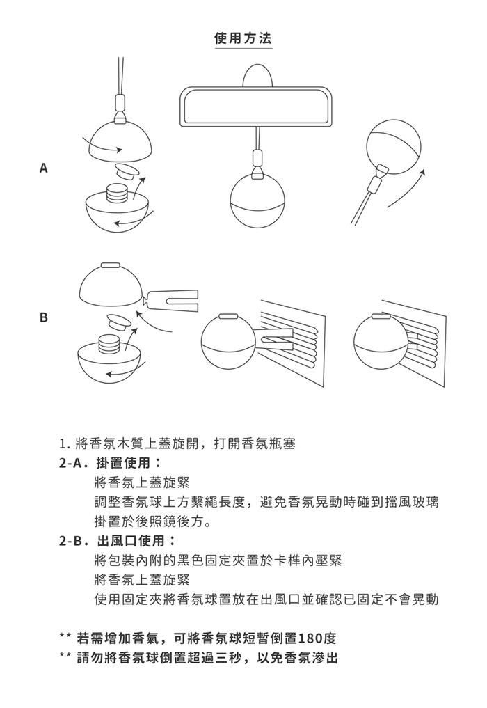Cristalinas車用球型植萃香氛 (6ML)- 海洋微風