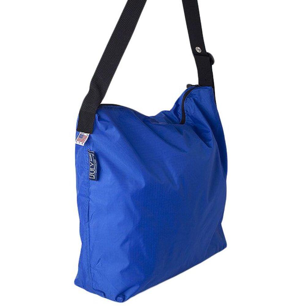 JULY NINE|可收納式拉鍊托特包 (肩背斜背兩用) 寶藍