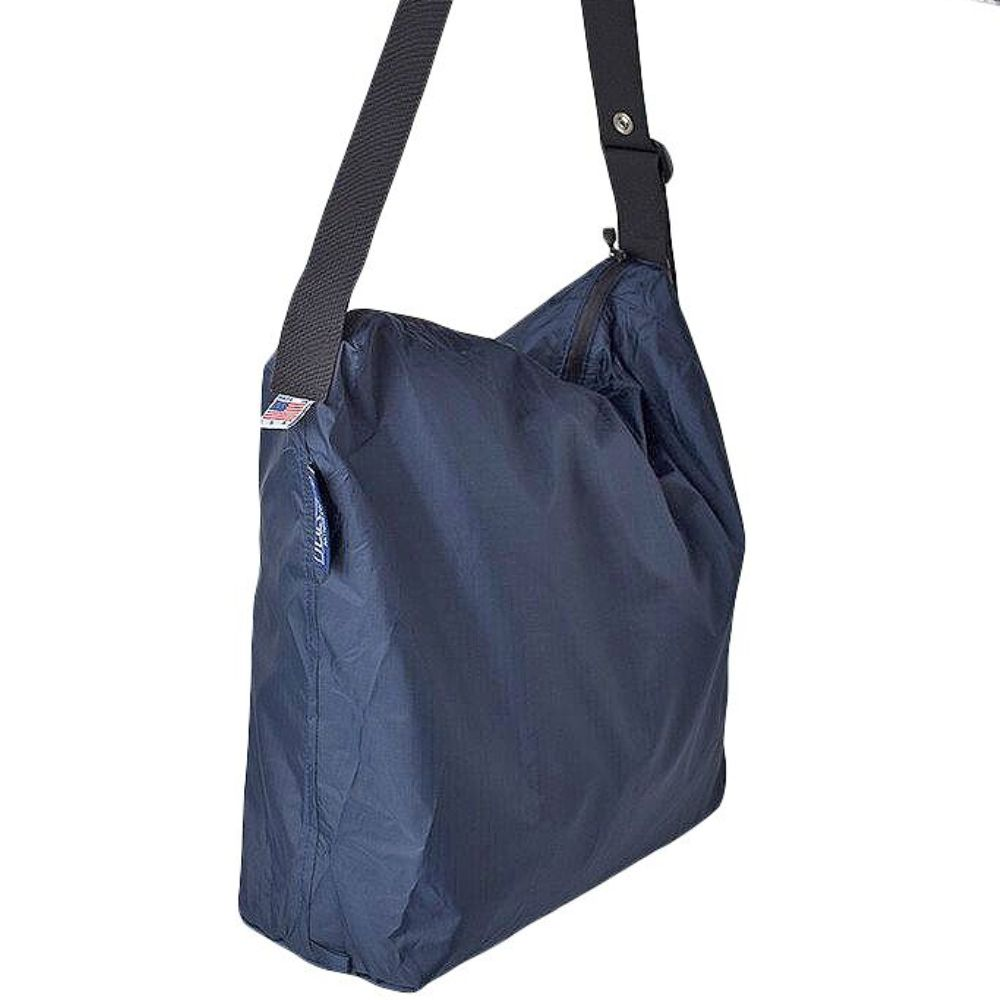 JULY NINE|可收納式拉鍊托特包 (肩背斜背兩用) 深藍