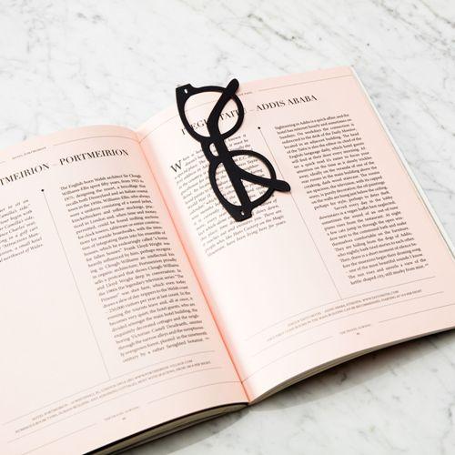OCTAEVO|黃銅手工書籤 墨鏡假期 (黑)