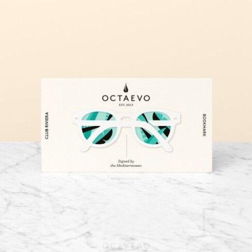 OCTAEVO|黃銅手工書籤 墨鏡假期 (白)