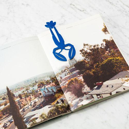 OCTAEVO|黃銅手工書籤 老饕龍蝦 (藍)