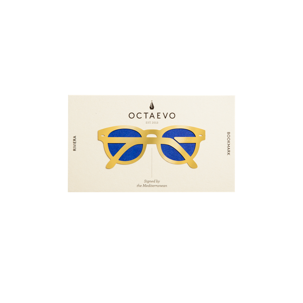 OCTAEVO|黃銅手工書籤 墨鏡假期 (金)