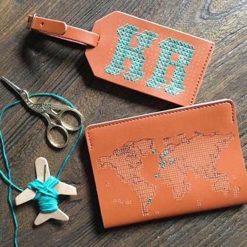 Chasing Threads|個人專屬 真皮地圖護照套 (經典咖)