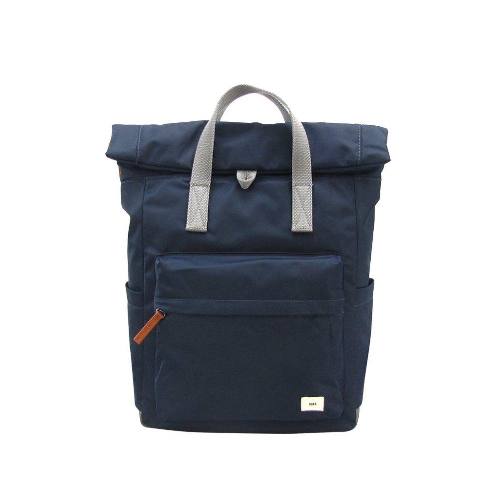 ROKA LONDON|Canfield B「通勤者」手提肩背兩用後背包(中) 夜藍
