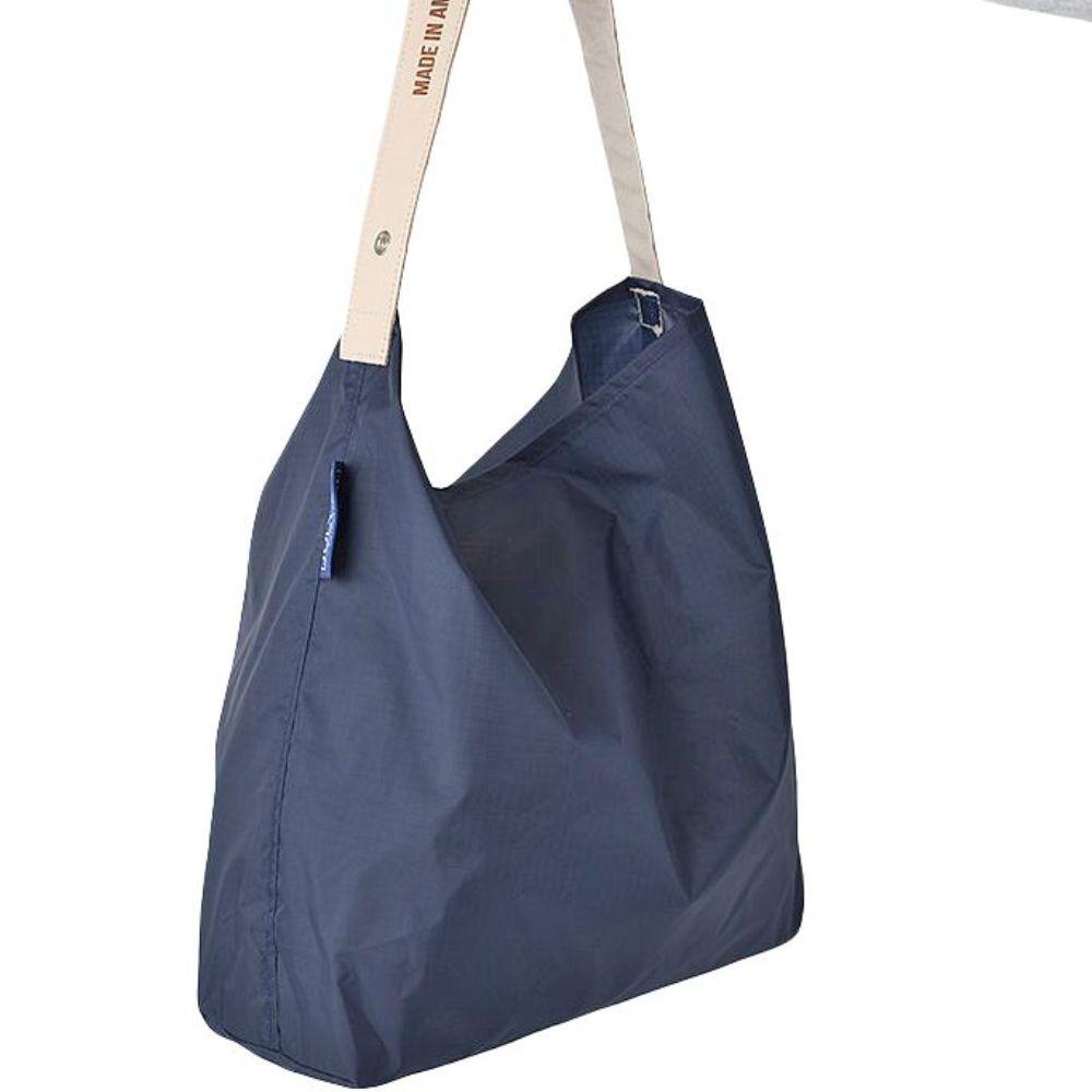 JULY NINE 可收納式時尚托特包 (肩背單色版) 深藍
