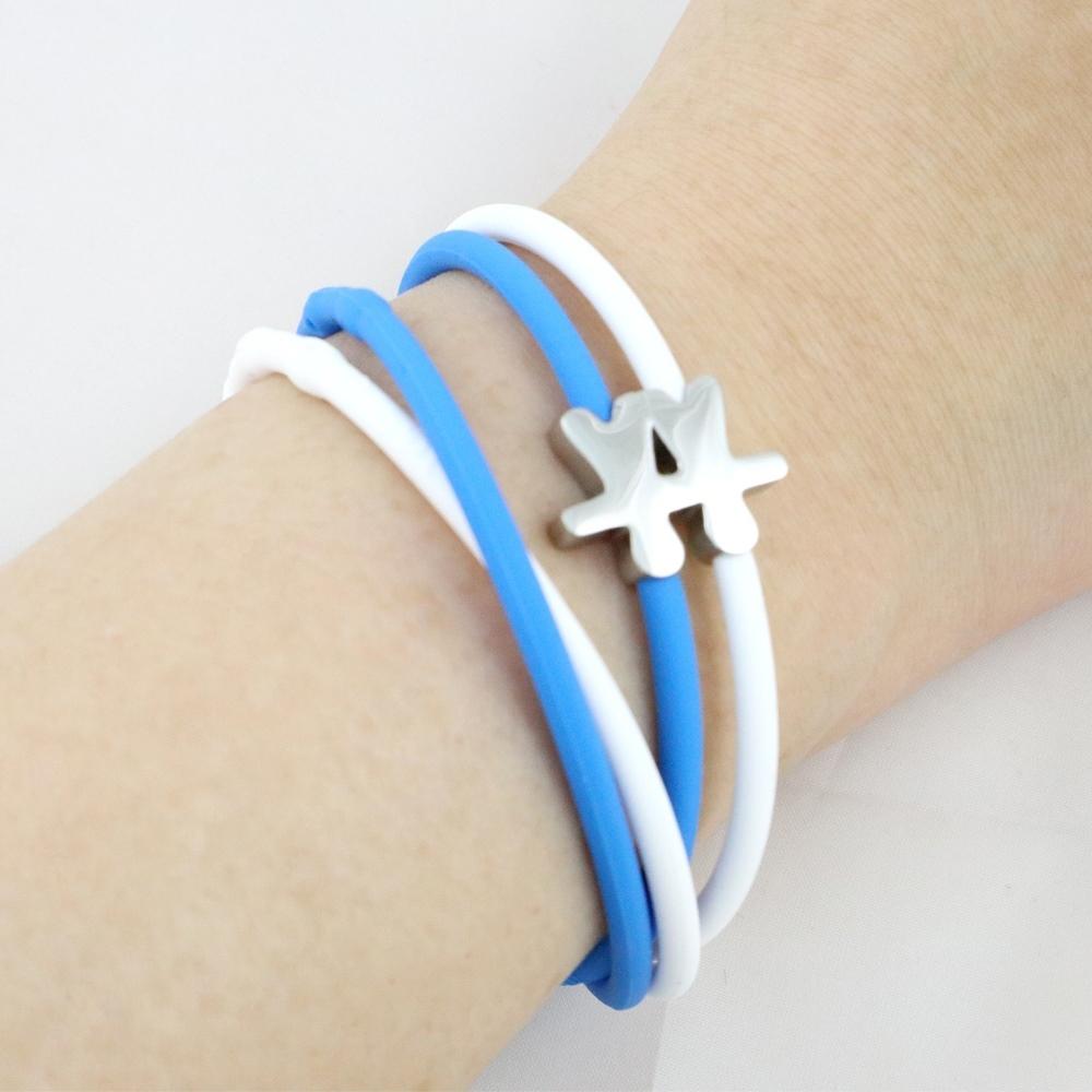 Brappz|瑞士百變運動手環(藍白晴朗組)