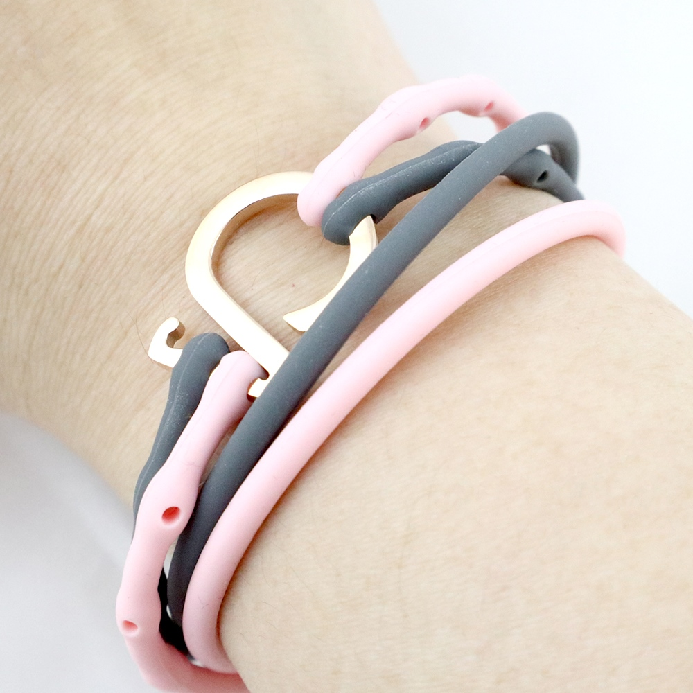 Brappz|瑞士百變運動手環(撞色組-粉、灰)