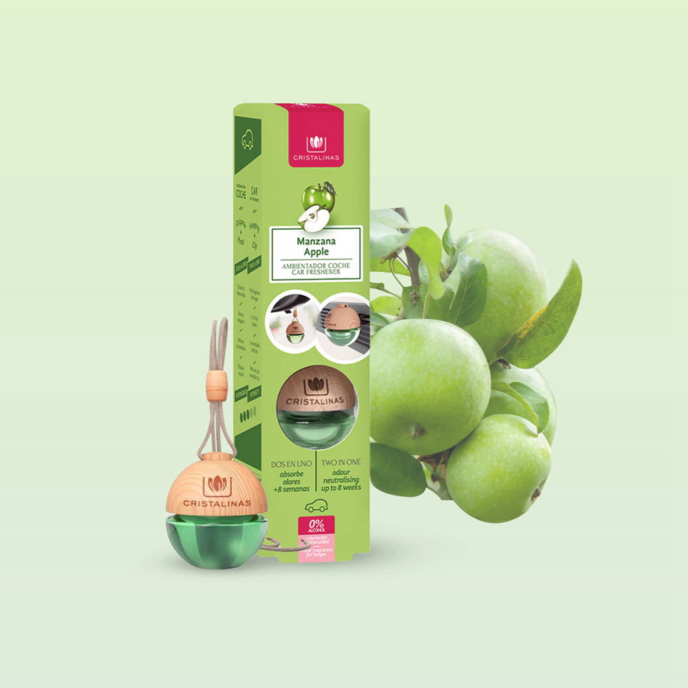 Cristalinas 車用球型植萃香氛 (6ML)- 青蘋果