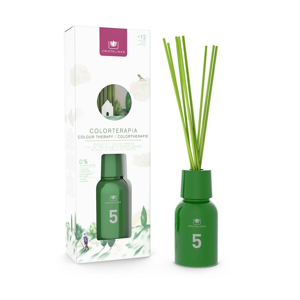 Cristalinas|色彩療法 複方香氛 (125ML)- 森林綠/綠茶花香調